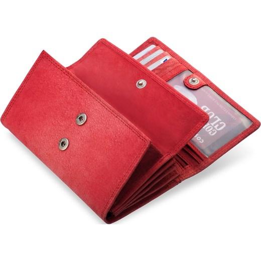 50e42fb8f9cf8 ... Skórzany nubuckowy portfel damski tłoczony rozowy Always Wild world -style.pl