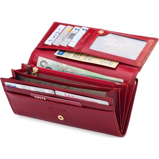 54f6621ac0875 Portfel damski skóra vera pelle bigiel pudełko czerwony world-style ...