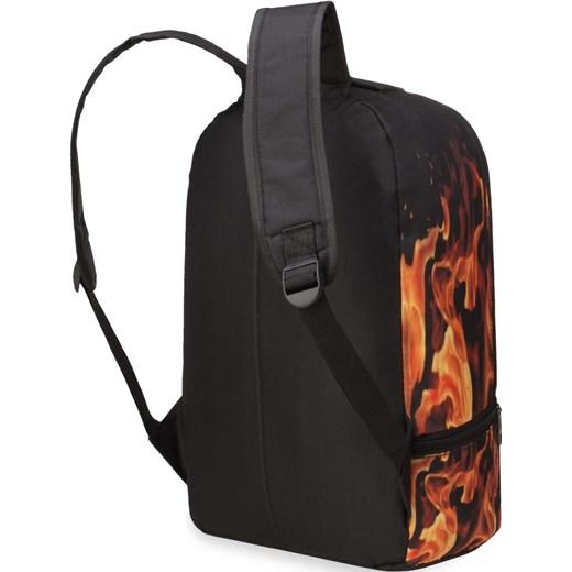 c6dbe6e783a45 ... Młodzieżowy plecak męski szkolny wycieczkowy – płonąca dłoń bialy  world-style.pl