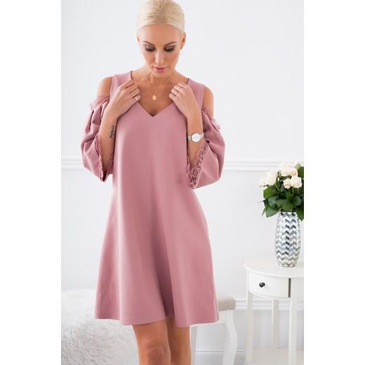 0b3d05090d ... Sukienka elegancka trapezowa ciemny róż ALZ3073 fasardi XL fasardi.com