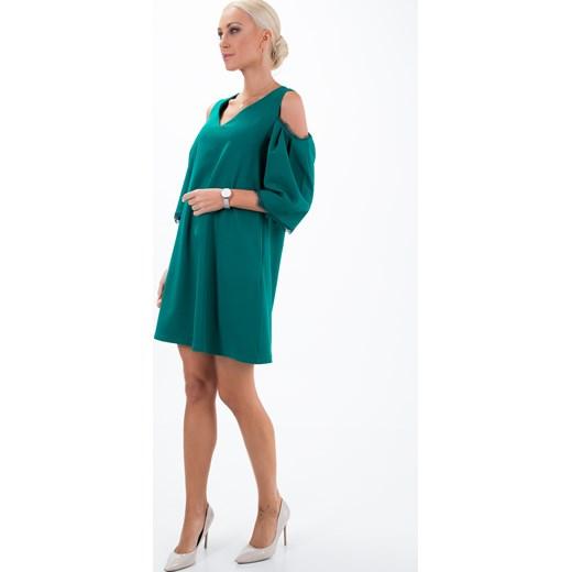 29443dafbc Sukienka elegancka trapezowa morska ALZ3073 fasardi fasardi.com w Domodi