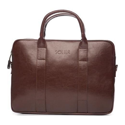 8e3b1f4c6d394 ... Skórzana męska torba na laptopa Brązowa Solier William Solier One Size  merg.pl. Zobacz  Solier