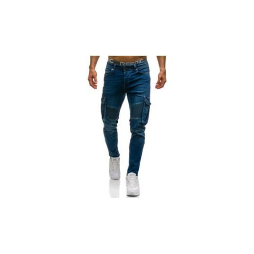 bcfd9fe04cda4 Spodnie jeansowe bojówki niebieskie Denley 524 Denley.pl 33 Denley ...