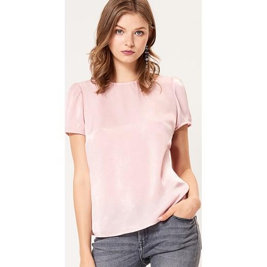499414dee337b0 Mohito - Zwiewna bluzka z bufiastymi rękawami Różowy bezowy w Domodi