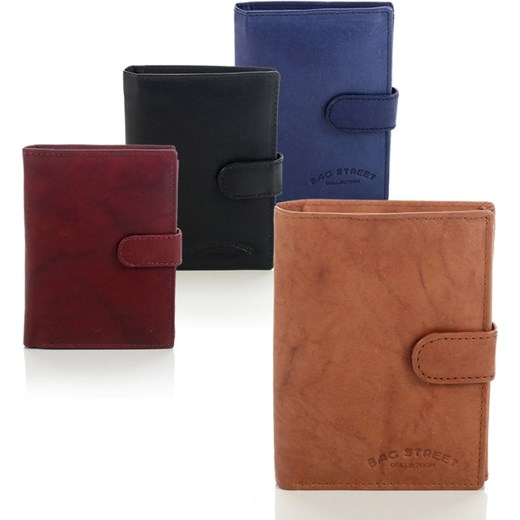 d14d0d7cae566 Skórzany portfel męski Bag Street w pudełku - 993C supergalanteria-pl  brazowy elegancki