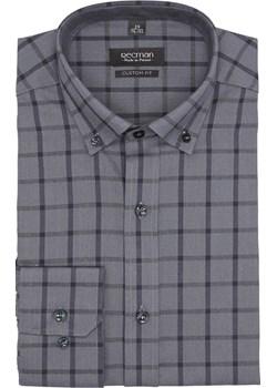 koszula bexley f2647 długi rękaw custom fit szary Recman szary  - kod rabatowy