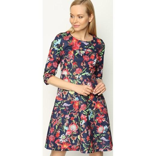 64ee8c2f45 Granatowo-Czerwona Sukienka Discontinue fioletowy XL promocja Born2be Odzież