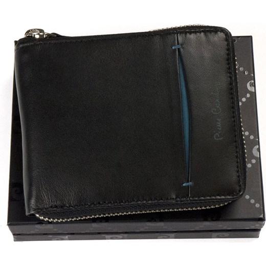 2636861fe9c56 Zasuwany portfel męski skórzany Pierre Cardin TILAK 07 8818 niebieski  czarny Galmark w Domodi