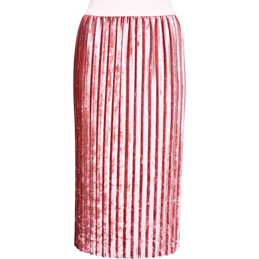 Plisowana spódnica z weluru bezowy elite