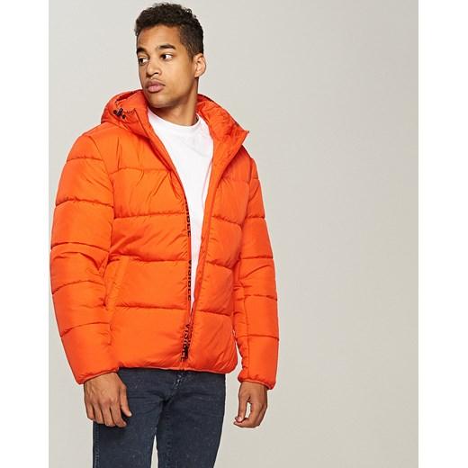 f8c7254d03741 Reserved - Pikowana kurtka Pomarańczo pomaranczowy w Domodi