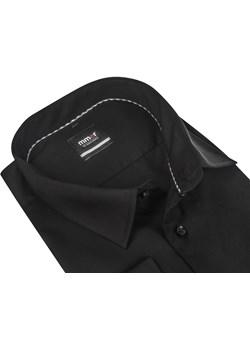 Czarna koszula męska MMER z długim rękawem Koszule Męskie Mmer  Modini okazja  - kod rabatowy