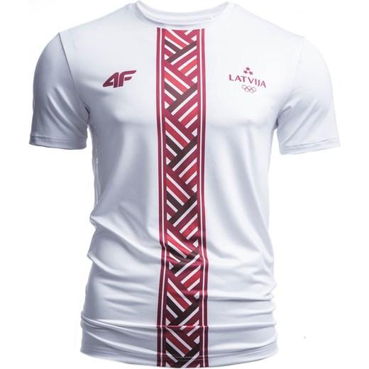 b0206d8f7 Koszulka funkcyjna męska Łotwa Pyeongchang 2018 TSMF800 - biały 4F w ...