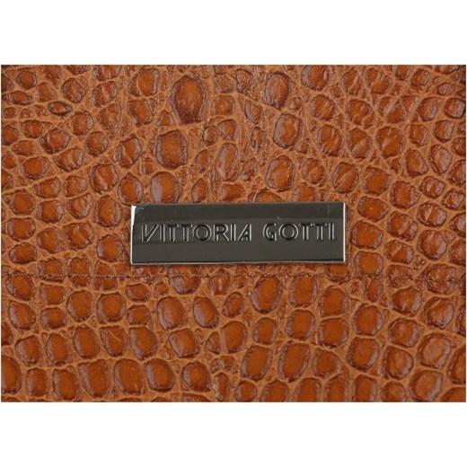 6373e5b8a4aa1 ... Vittoria Gotti Włoskie Torebki Skórzane Kufer 3 Komory wzór Aligatora  Ruda (kolory) Vittoria Gotti ...