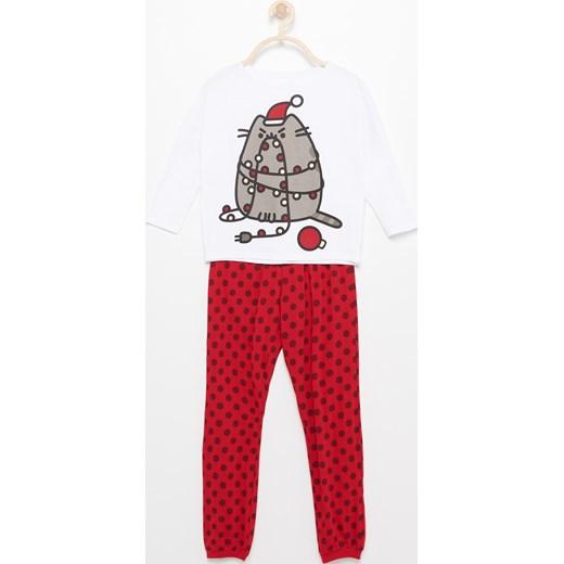 c0a38d4b503770 Reserved - Świąteczna piżama pusheen Biały czerwony w Domodi