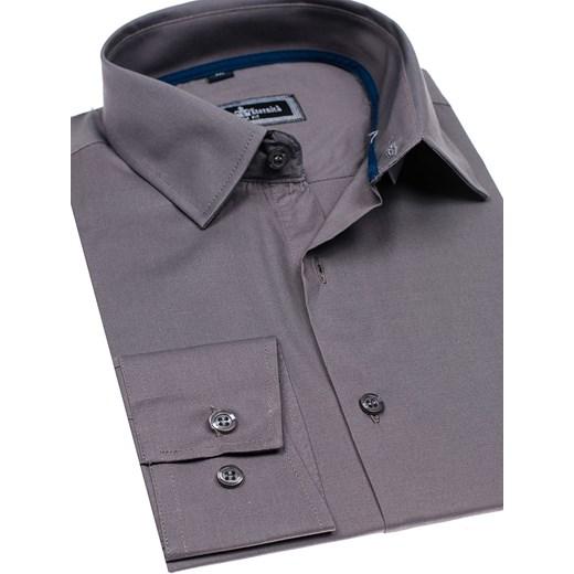 2df393d9577a0 ... Koszula męska elegancka z długim rękawem grafitowa Denley GEM01  Denley.pl M okazja Denley ...