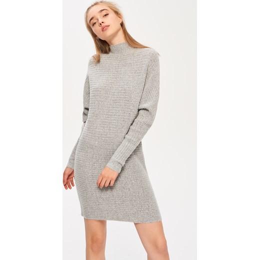 4d984088fc76 ... Sinsay - Dzianinowa sukienka - Szary Sinsay szary XS
