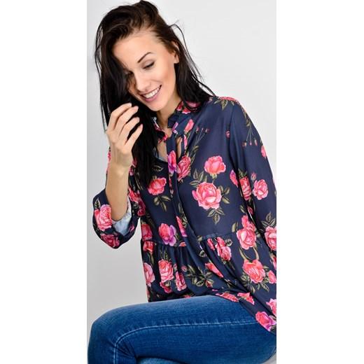a4940d967c72 Koszula tunika w kwiaty z wiązaniem Zoio uniwersalny okazyjna cena zoio.pl  ...