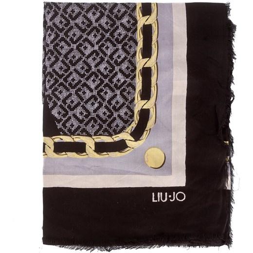 Chusta LIU JO - Foulard Logo Col.Bl A18245 T0300 Nero 22222 czarny Liu Jo d6c32e7c7cc