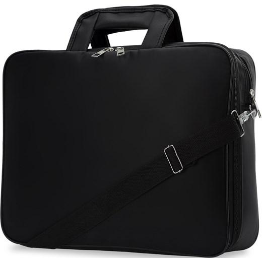 613f7cba5179e ... Torba na laptopa 17 cali męska dwukomorowa praktyczna – czarny czarny  world-style.pl ...