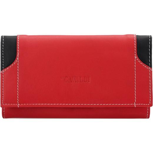 ced35ac36951f Stylowy portfel damski cavaldi harmonijka skóra naturalna – czerwony Cavaldi  czerwony world-style.pl ...