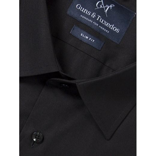 tani Koszula black classic czarny Guns&tuxedos promocyjna  C2Hh3