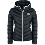 Adidas Slim Jacket Kurtka zimowa damska czarnybiały szary EMP