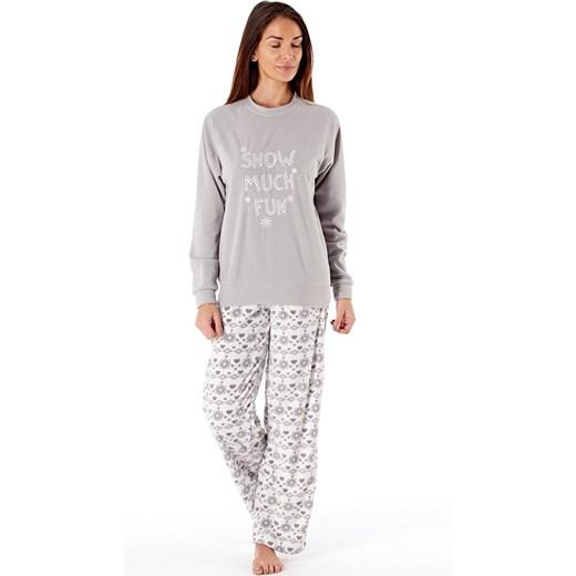 c72af2b10bb5ce Damska piżama polarowa Show Much Fun szary Selena Secrets Astratex w ...