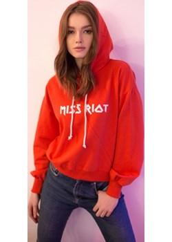 Bluza Miss Riot Red S czarna Miss Trouble  wyprzedaż Misstrouble.pl  - kod rabatowy