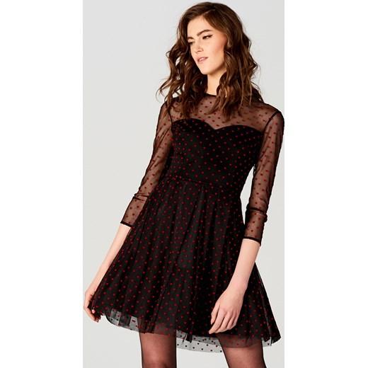 74a22e31 Mohito - Tiulowa sukienka z rozkloszowanym dołem little princess Czarny