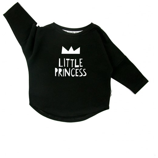 BLUZA 'LITTLE PRINCESS'  czarny 86/92(12-24M) i love milk