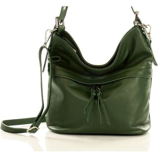 0cdae27d35155 Marcelle - Elegancka torebka skórzana na ramię MAZZINI zielona Mazzini  zielony One Size promocyjna cena merg ...