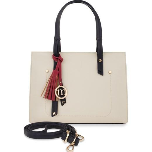 111d58de Monnari elegancka teczka torebka damska frędzle szary world-style.pl