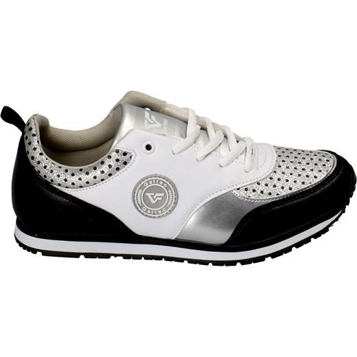a76dea5ea7e92f Buty sportowe damskie T-1760 czarno białe srebro brokatowe czarny Gelteo 39  Casadi