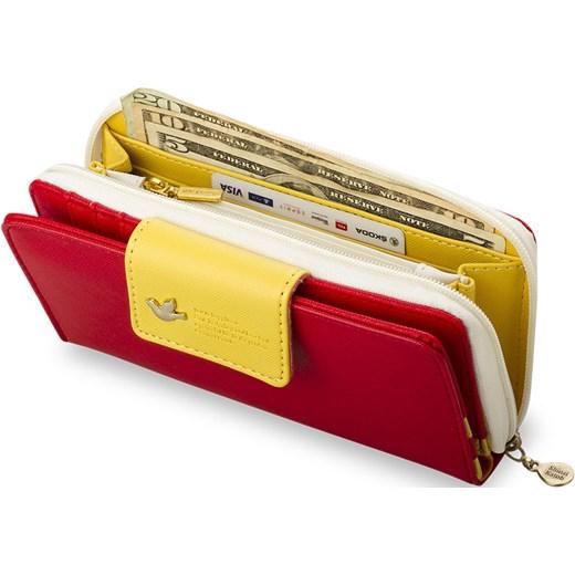 a4dbd8511bd2f ... ORYGINALNY KOLOROWY PRAKTYCZNY PORTFEL DAMSKI - MIĘTOWY world-style-pl  czerwony modne ...