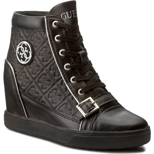 7e969fd55 Sneakersy GUESS - Fiore FLIOE1 LEA12 BLACK Guess 39 eobuwie.pl
