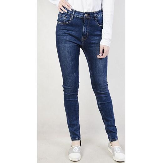 8dd846fdf10b Duże rozmiary ( L - 4 XL ) Spodnie jeansowe z wysokim stanem granatowy 3XL  olika ...