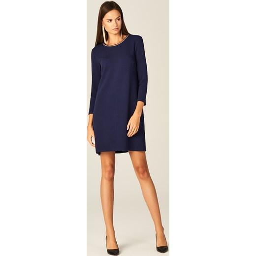 cea812944c ... Mohito - Sukienka z biżuteryjną ozdobą - Niebieski granatowy Mohito S