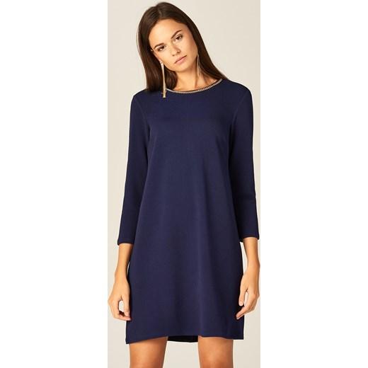 125e657e39 Mohito - Sukienka z biżuteryjną ozdobą - Niebieski granatowy Mohito M ...