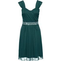 23682186a4 Zielone sukienki koktajlowe rozkloszowane