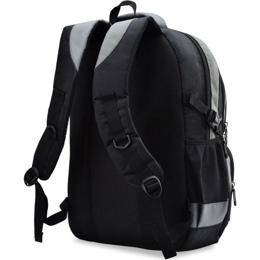 a5a6a80758a2b ... Praktyczny plecak męski bag street szkolny wycieczkowy – czarno-szary  Bag Street czarny world-