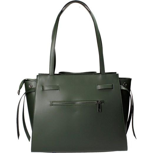 c4c03c94e478d ... Zielona torebka na ramię bialy Barberini`s uniwersalny Wojtowicz  Awangarda Shoes