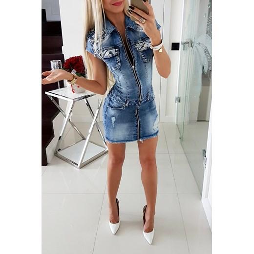 01cd690641 Piękna Sukienka Jeans Paris Collection Iwette Butik w Domodi