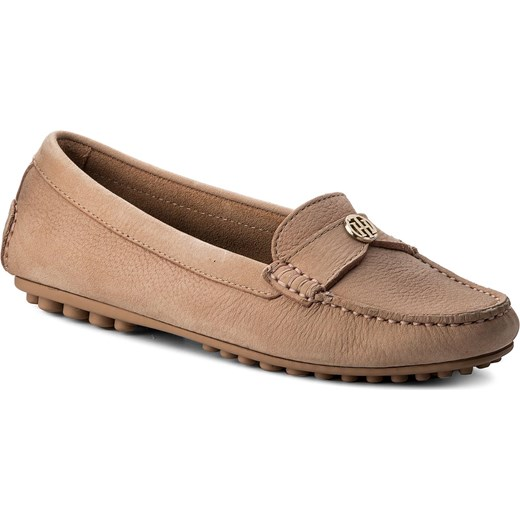 cb876c19a2ba5 Mokasyny TOMMY HILFIGER - Moccasin With Chain Detail FW0FW02783 Silky Nude  297 Tommy Hilfiger 42 eobuwie
