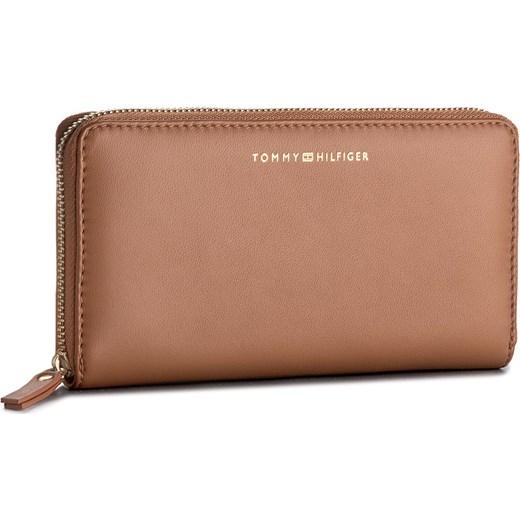 4f9b1377b77d1 Duży Portfel Damski TOMMY HILFIGER - Smooth Leather Za Wallet AW0AW05138  295 Tommy Hilfiger eobuwie.