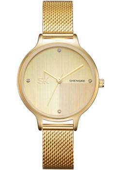 Złoty zegarek SK na bransolecie 0045 zolty Shengke niwatch.pl - kod rabatowy