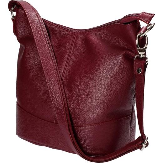3cf03d32c6878 ... Bordowa torebka na ramię czerwony Barberini`s uniwersalny Wojtowicz  Awangarda Shoes ...