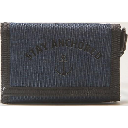 2b870557471de House - Materiałowy portfel z napisem - Granatowy House szary One Size ...
