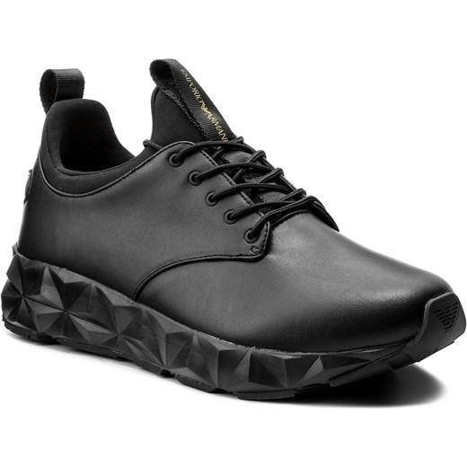 9274e933ddfc Sneakersy EMPORIO ARMANI - X4X193 XL191 A792 Black Black Black Emporio  Armani szary 44
