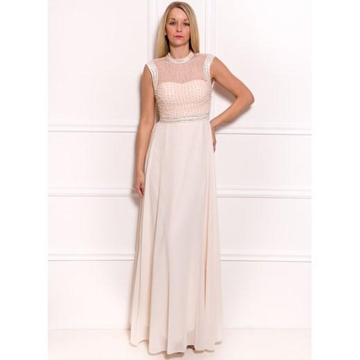 a8e364722d Długa sukienka kremowa bezowy Glamadise Glamadise.pl w Domodi