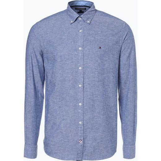 54a12ace12775 Tommy Hilfiger - Męska koszula z dodatkiem lnu, niebieski fioletowy Tommy  Hilfiger XXL vangraaf
